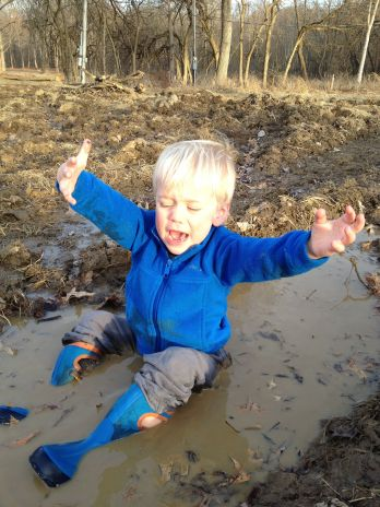 Ryker in mud