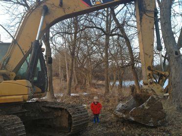 Ryker with excavator